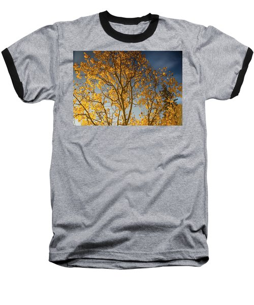 Rocky Mountain Fall Colors Baseball T-Shirt