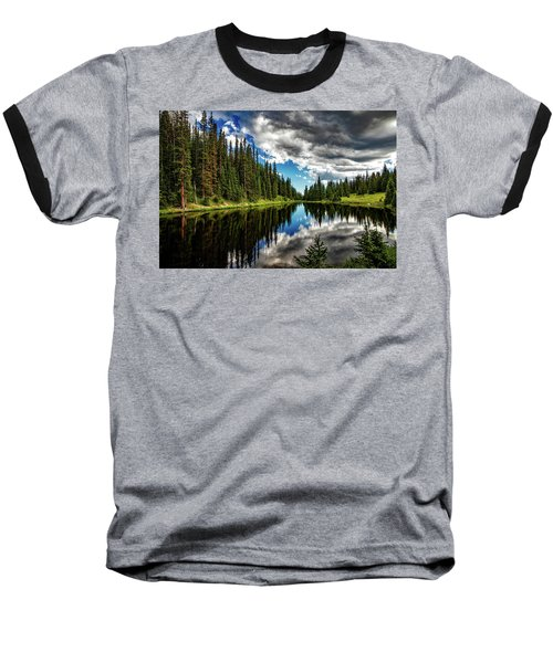 Rocky Mountain Lake Irene Baseball T-Shirt