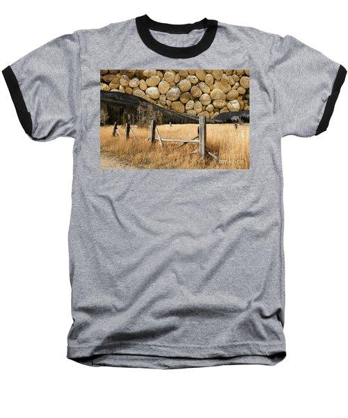 Rocky Mountain Sky Baseball T-Shirt by John Stephens