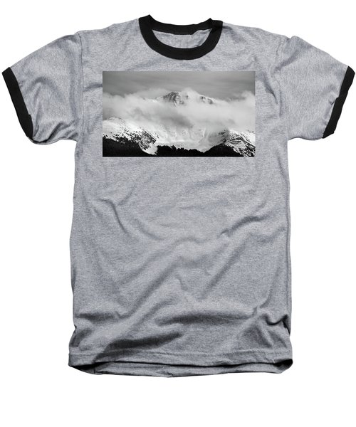 Rocky Mountain Snowy Peak Baseball T-Shirt