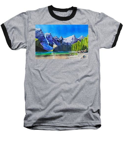 Rocky Mountain Sunrise Baseball T-Shirt