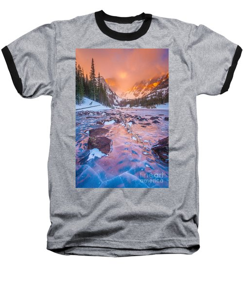 Rocky Mountain Sunrise Baseball T-Shirt