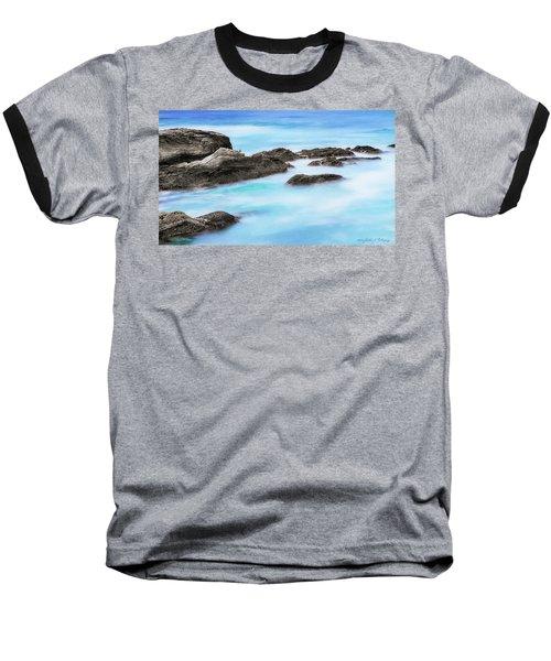 Baseball T-Shirt featuring the photograph Rocky Ocean by John A Rodriguez