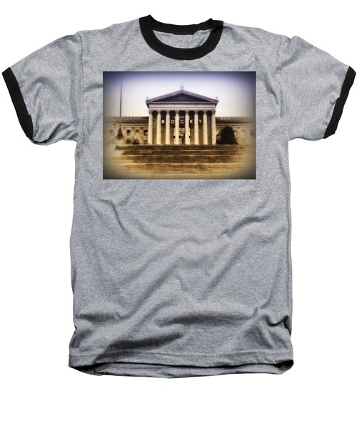 Rocky On The Art Museum Steps Baseball T-Shirt