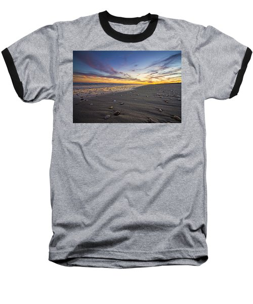 Rocky Roger's Beach Sunset Baseball T-Shirt