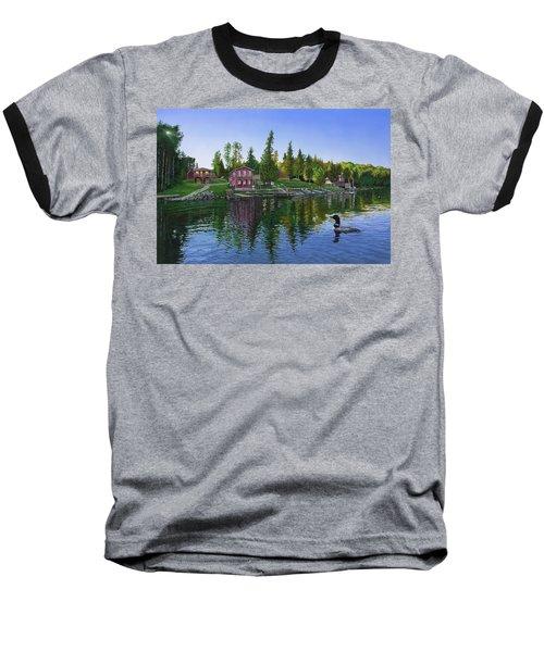 Rocky Shore Lodge Baseball T-Shirt