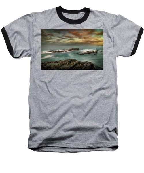 Rocky Shores At Victoria Beach Baseball T-Shirt