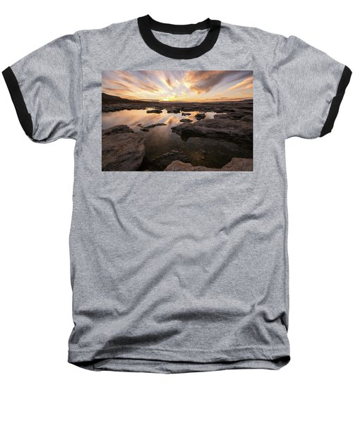 Rocky Shores Of Utah Lake Baseball T-Shirt
