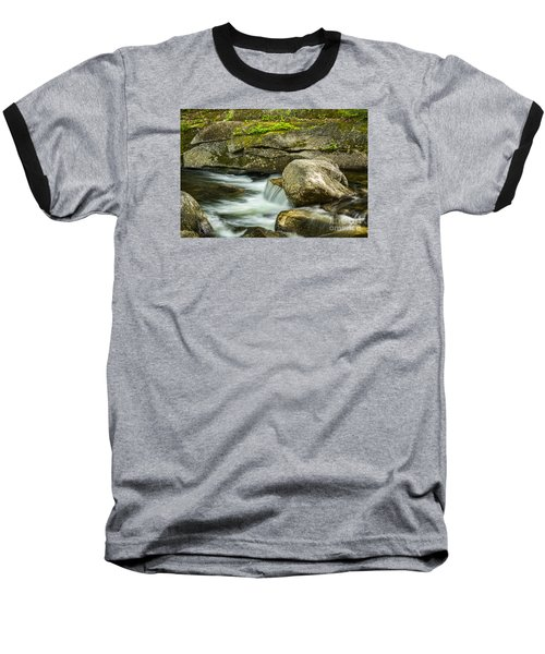 Baseball T-Shirt featuring the photograph Rocky Stream by Alana Ranney