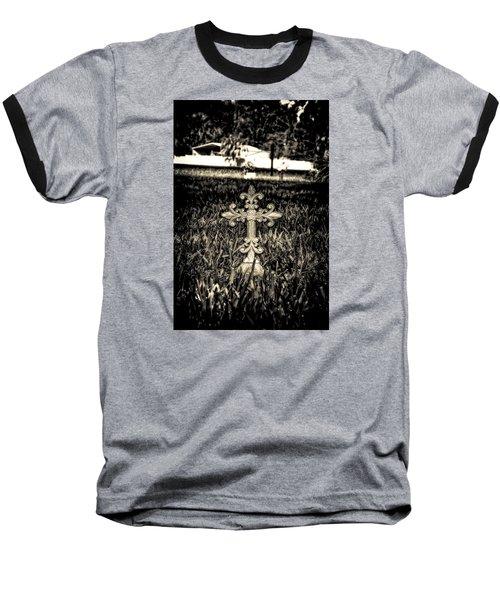 Rod Iron Cross  Baseball T-Shirt by Michael White