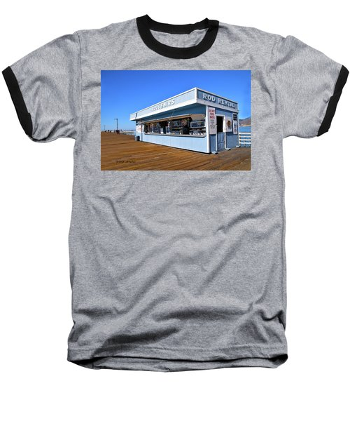 Baseball T-Shirt featuring the photograph Rod Rental At The Pismo Beach Pier by Floyd Snyder