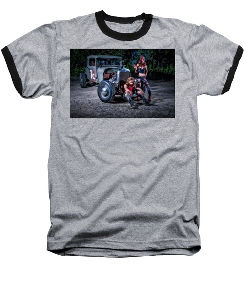 Rodders #2 Baseball T-Shirt by Jerry Golab