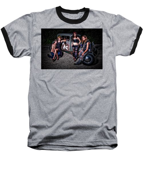 Rodders #4 Baseball T-Shirt by Jerry Golab