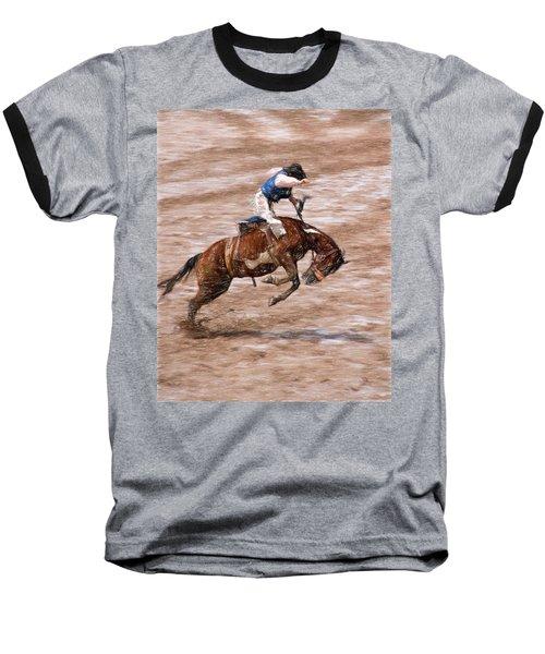 Baseball T-Shirt featuring the photograph Rodeo Bronc Rider by John Freidenberg