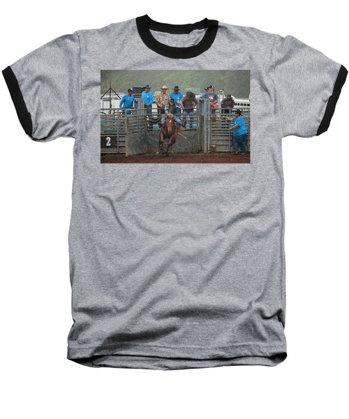 Baseball T-Shirt featuring the photograph Rodeo Bronco by Lori Seaman