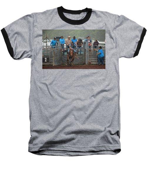 Rodeo Bronco Baseball T-Shirt by Lori Seaman