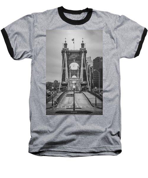 Roebling Bridge Baseball T-Shirt