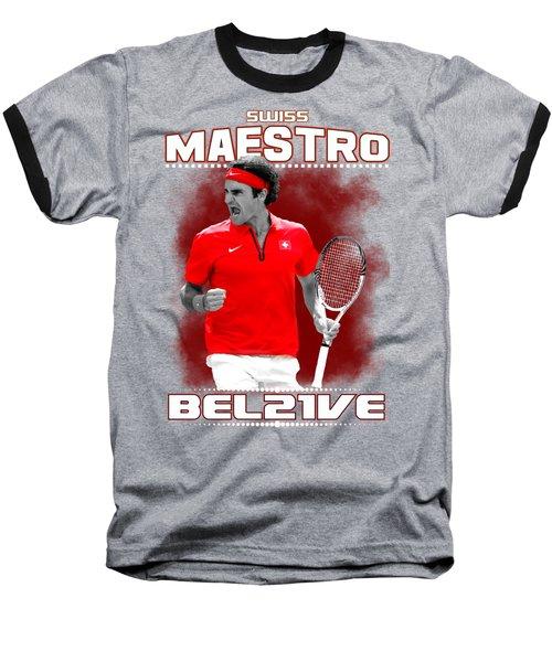 Roger Federer Maestro Baseball T-Shirt