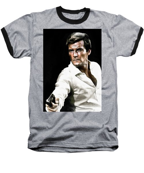 Roger Moore Baseball T-Shirt