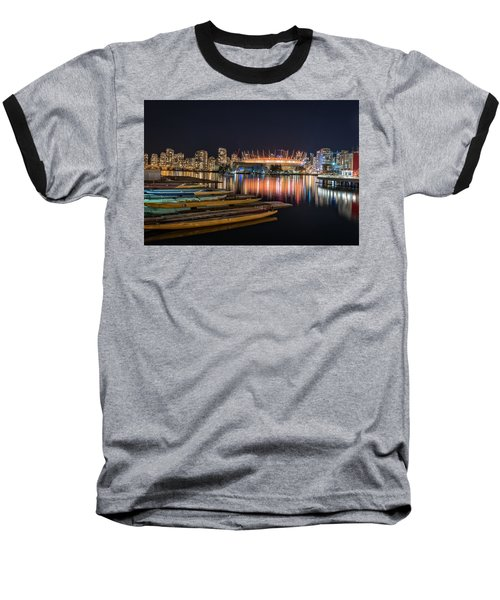 Rogers Arena Vancouver Baseball T-Shirt by Sabine Edrissi