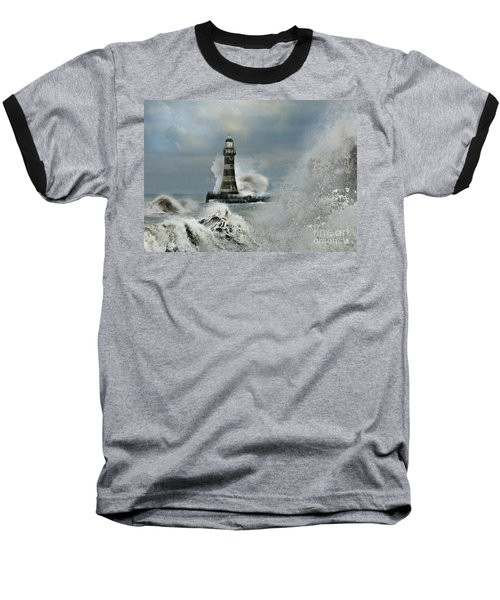 Roker Pier And Lighthouse Baseball T-Shirt