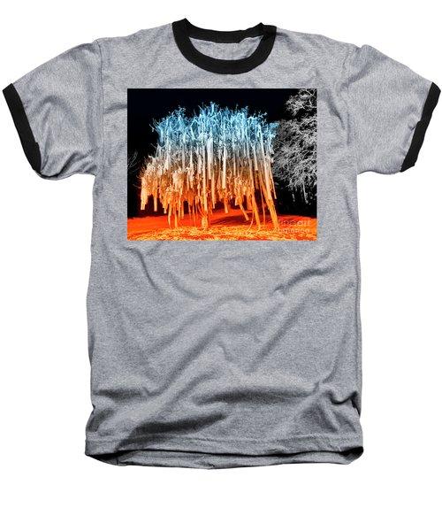 Rolled Tree Orangenblue Baseball T-Shirt