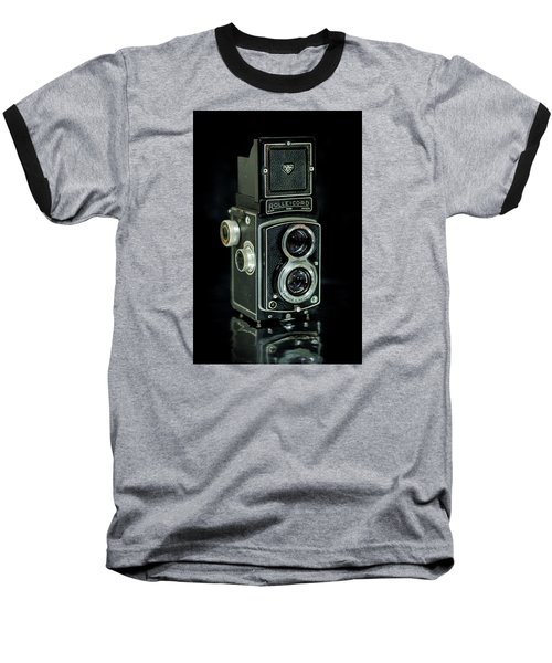 Baseball T-Shirt featuring the photograph Rollei Twin Lense by Keith Hawley