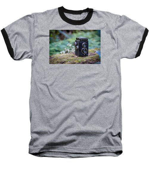 Baseball T-Shirt featuring the photograph Rolleicord Tlr by Keith Hawley