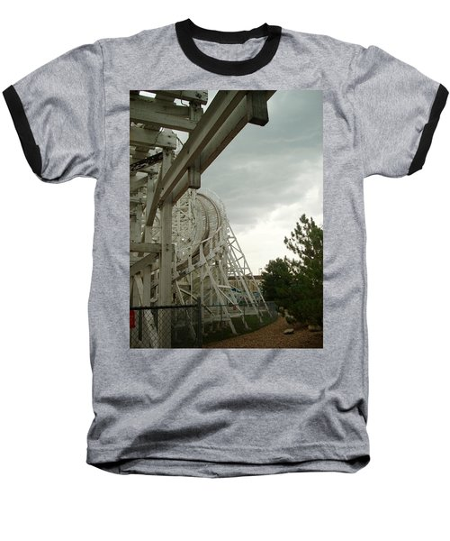 Roller Coaster 5 Baseball T-Shirt