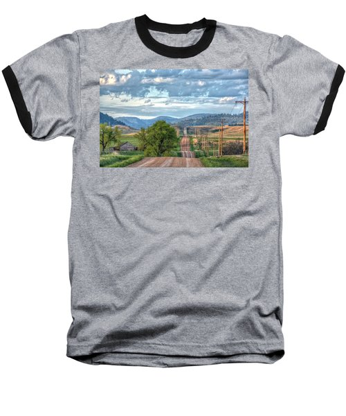Rollercoaster Country Road Baseball T-Shirt by Fiskr Larsen