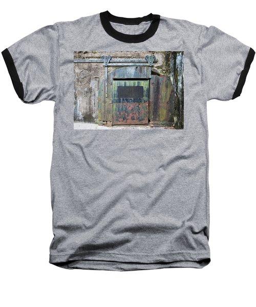 Rolling Door To The Bunker Baseball T-Shirt