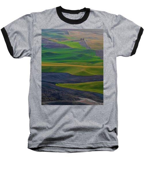 Rolling Fields Of The Palouse Baseball T-Shirt by James Hammond
