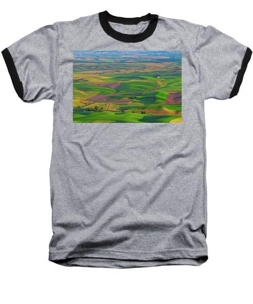 Rolling Green Hills Of The Palouse Baseball T-Shirt by James Hammond