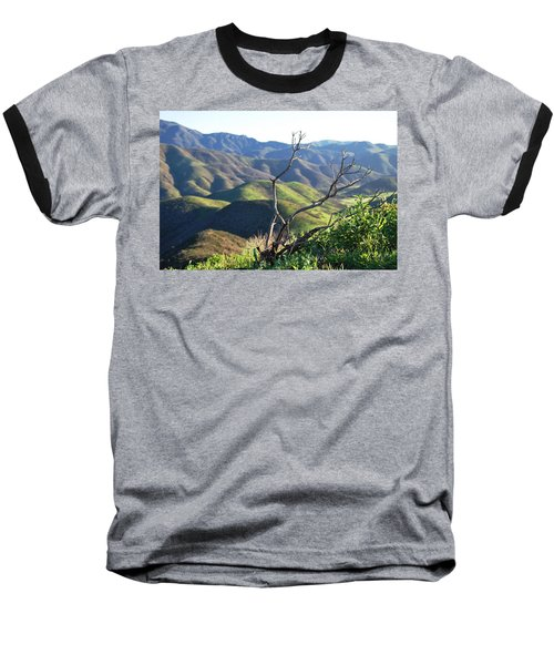 Baseball T-Shirt featuring the photograph Rolling Green Hills With Dead Branches by Matt Harang