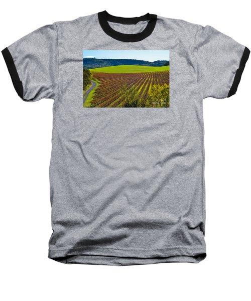 Rolling Hills And Vineyards Baseball T-Shirt