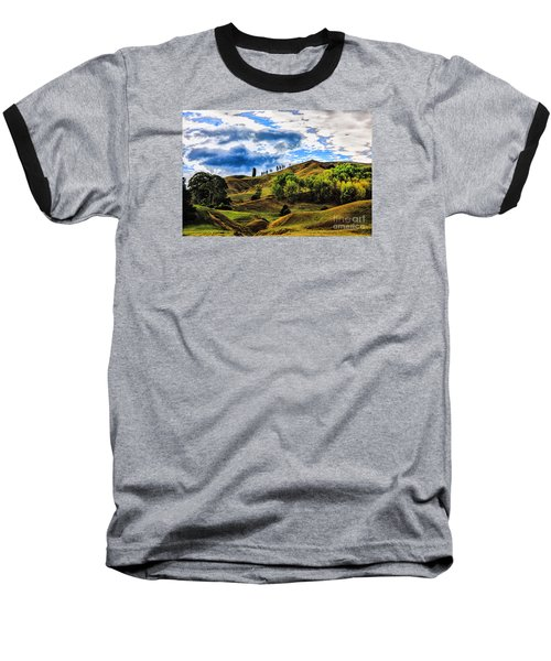 Baseball T-Shirt featuring the photograph Rolling Hills by Rick Bragan