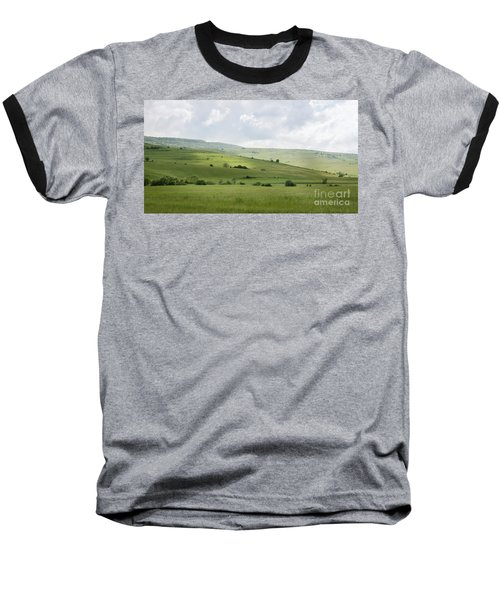 Baseball T-Shirt featuring the photograph Rolling Landscape, Romania by Perry Rodriguez