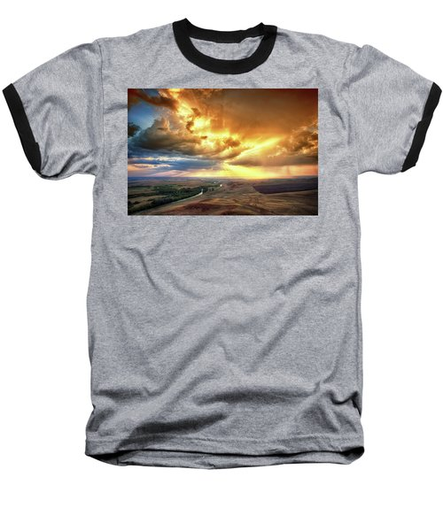 Rolling Rain Of Summer Sunset Baseball T-Shirt