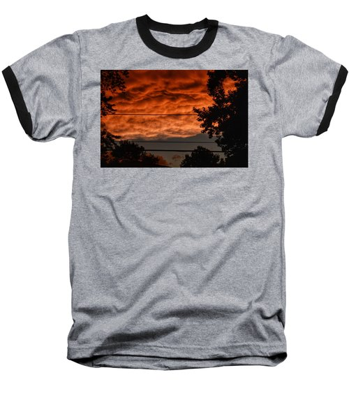 Baseball T-Shirt featuring the photograph Rolling Skies by Nikki McInnes