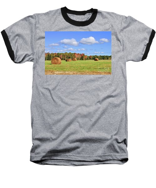 Rolls Of Hay On A Beautiful Day Baseball T-Shirt