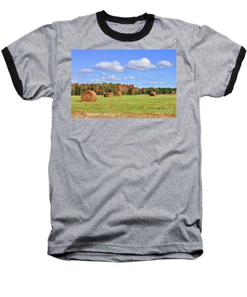 Rolls Of Hay On A Beautiful Day Baseball T-Shirt