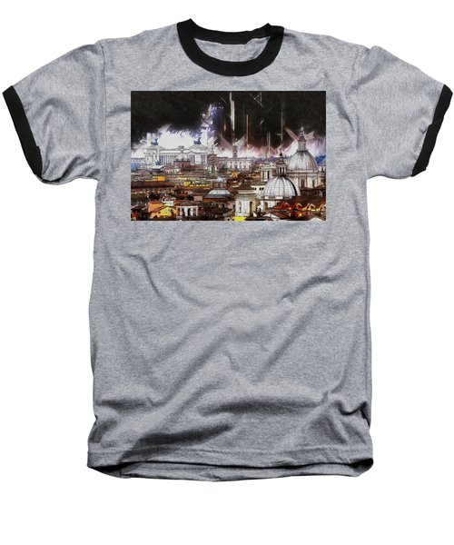 Baseball T-Shirt featuring the painting Roma Aeterna by Kai Saarto
