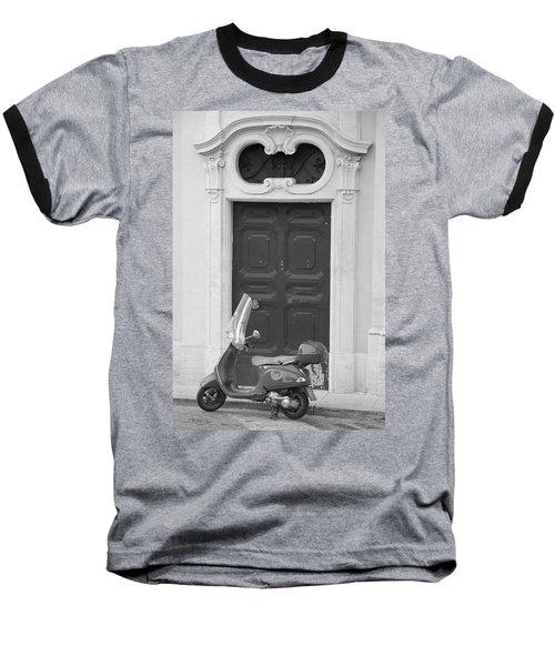 Roma Vespa And Door  Baseball T-Shirt