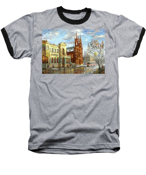 Baseball T-Shirt featuring the painting Roman Catholic Church by Dmitry Spiros