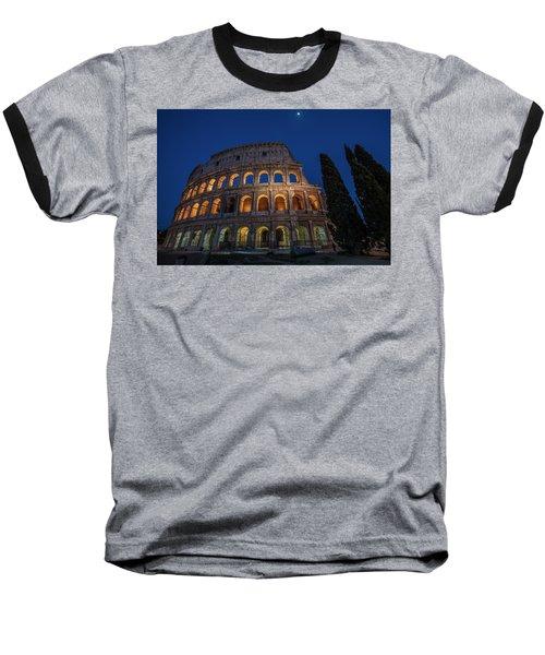 Roman Coliseum In The Evening  Baseball T-Shirt