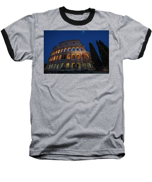 Roman Coliseum In The Evening  Baseball T-Shirt