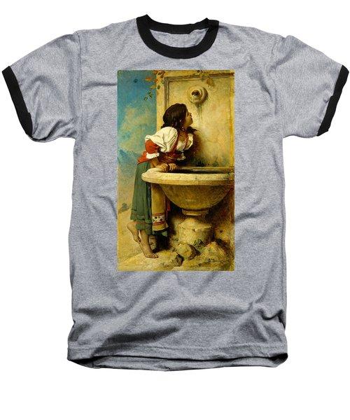 Roman Girl At A Fountain Baseball T-Shirt