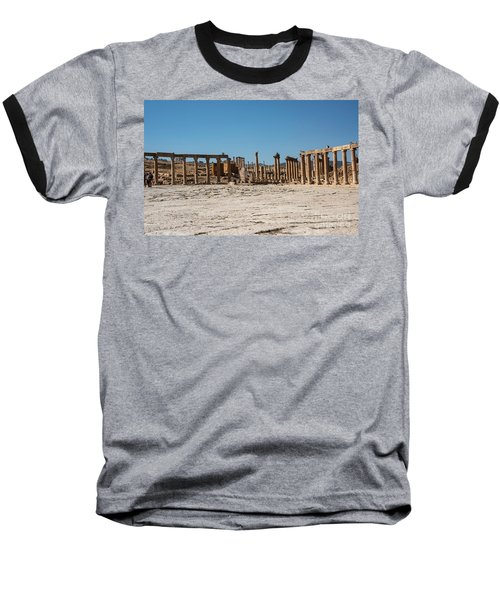 Baseball T-Shirt featuring the photograph Roman Ruins At Ajloun by Mae Wertz