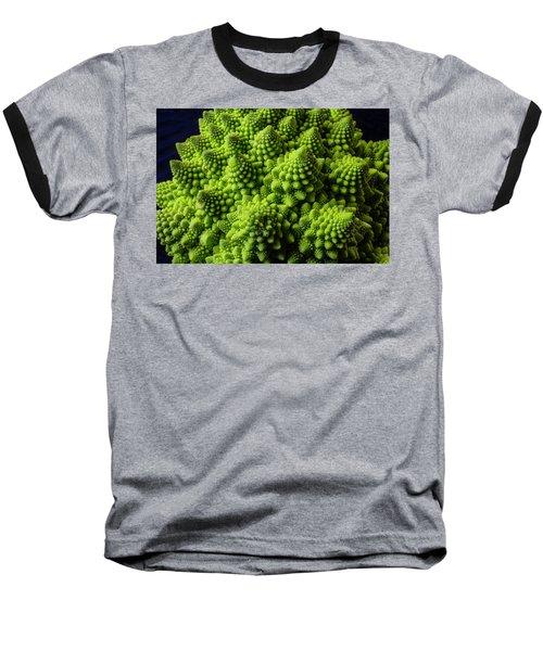 Romanesco Broccoli Baseball T-Shirt by Garry Gay