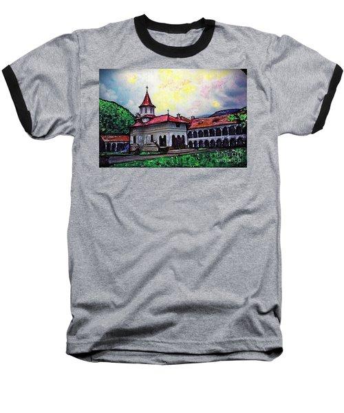 Romanian Monastery Baseball T-Shirt
